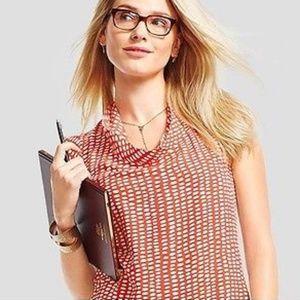 Cabi size XS orange/cream sleeveless Madeleine Top